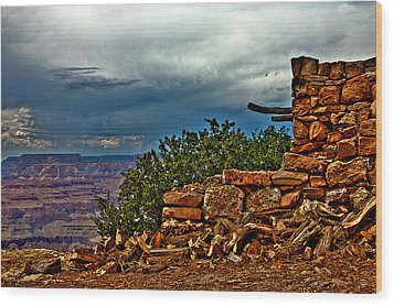 Canyon Outlook Wood Print by William Wetmore