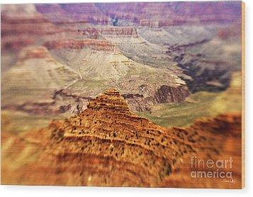Canyon Peak Wood Print by Scott Pellegrin