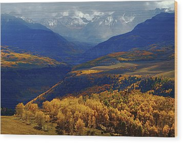 Wood Print featuring the photograph Canyon Shadows And Light From Last Dollar Road In Colorado During Autumn by Jetson Nguyen