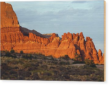Canyonlands At Sunset Wood Print by Marty Koch