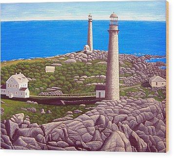 Cape Ann Twin Towers Wood Print by Frederic Kohli