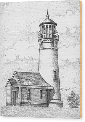 Cape Blanco Lighthouse Wood Print by Lawrence Tripoli