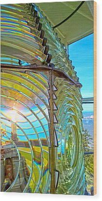 Cape Blanco Lighthouse Lens Wood Print