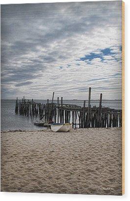 Cape Cod Bay Wood Print by Joan  Minchak