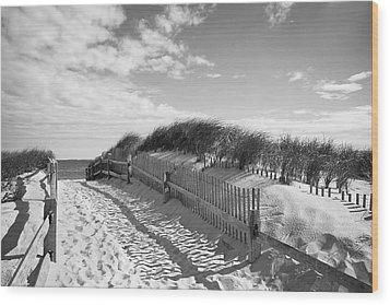 Cape Cod Beach Entry Wood Print by Mircea Costina Photography