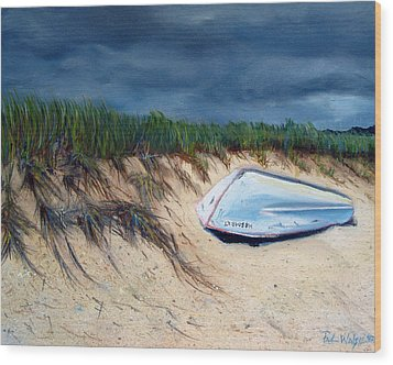 Cape Cod Boat Wood Print by Paul Walsh