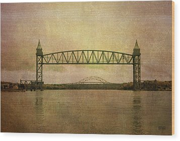 Cape Cod Canal And Bridges Wood Print by Dave Gordon