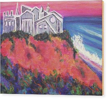 Cape Cod Castle Wood Print by Suzanne  Marie Leclair