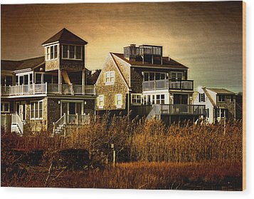 Cape Cod Gold Wood Print by Gina Cormier