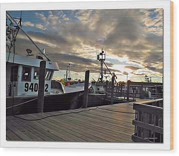 Cape Cod Harbor Wood Print by Joan  Minchak