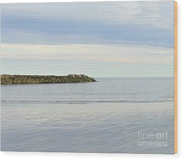 Cape Cod Jetty Sundown Wood Print