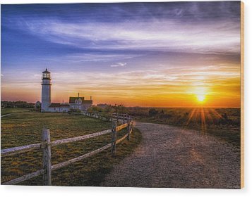 Cape Cod Light Wood Print
