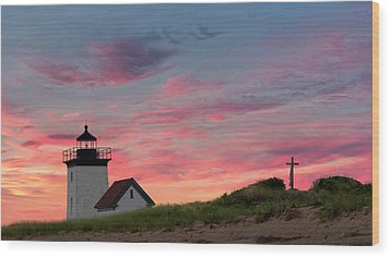 Wood Print featuring the photograph Cape Cod Long Point Light by Bill Wakeley