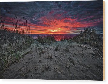 Cape Cod Sunrise Wood Print