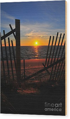 Cape Cod Sunset Wood Print by Catherine Reusch Daley