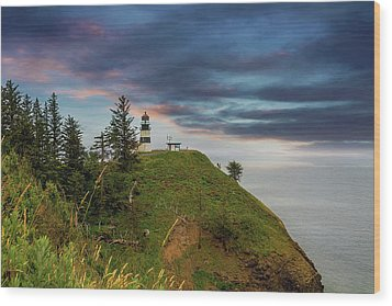Cape Disappointment After Sunset Wood Print by David Gn
