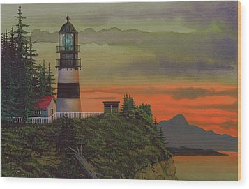Cape Disappointment Wood Print by James Lyman