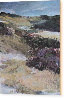 Wood Print featuring the painting Cape Dune by Diane Ursin
