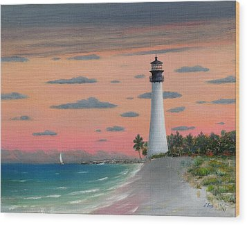 Cape Florida Light Wood Print