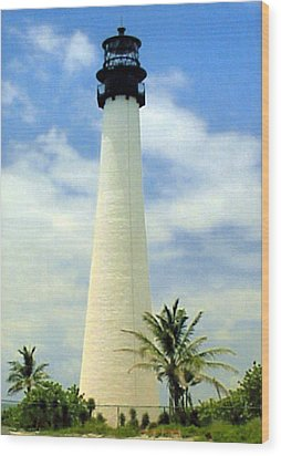 Wood Print featuring the photograph Cape Florida Lighthouse by Frederic Kohli