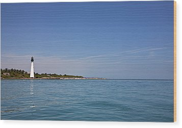 Cape Florida Lighthouse Wood Print by William Wetmore