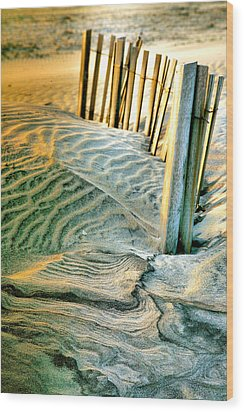 Cape Hatteras Dunes  Wood Print by Steven Ainsworth