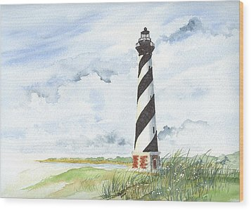 Cape Hatteras Lighthouse Wood Print by Denise   Hoff
