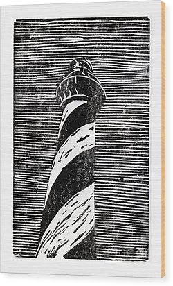 Wood Print featuring the painting Cape Hatteras Lighthouse II by Ryan Fox