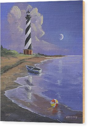 Cape Hatteras Lighthouse Wood Print by Jerry McElroy