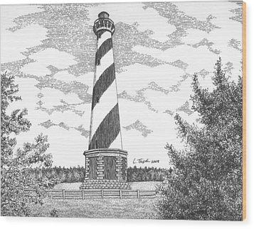 Cape Hatteras Lighthouse Wood Print by Lawrence Tripoli