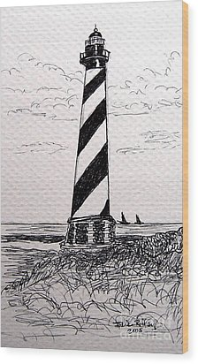 Cape Hatteras Lighthouse Nc Wood Print