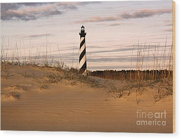 Wood Print featuring the photograph Cape Hatteras Lighthouse by Tony Cooper