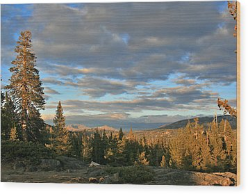 Cape Horn Sunset Looking East Wood Print by Larry Darnell