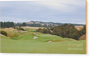 Cape Kidnappers  1 Golf Course New Zealand  Wood Print by Jan Daniels