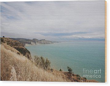 Wood Print featuring the photograph Cape Kidnappers Golf Course New Zealand by Jan Daniels