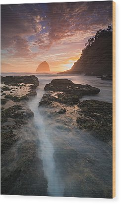 Cape Kiwanda Sunset Wood Print