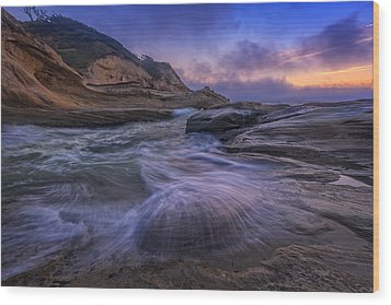 Cape Kiwanda Twilight Wood Print by Rick Berk