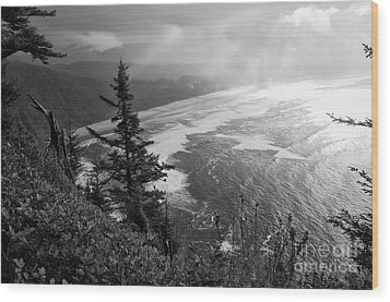 Cape Lookout Visit Www.angeliniphoto.com For More Wood Print by Mary Angelini