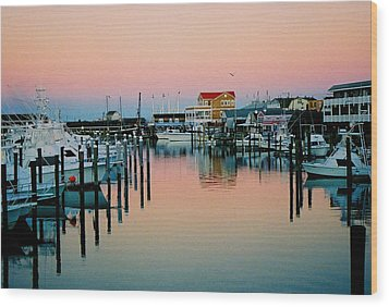 Wood Print featuring the photograph Cape May After Glow by Steve Karol