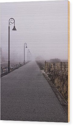 Cape May Fog Wood Print
