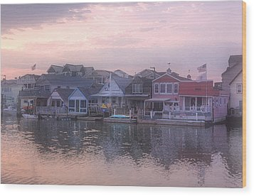 Cape May Harbor Wood Print