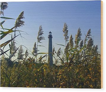 Cape May Light Autumn Wood Print by Kevin  Sherf