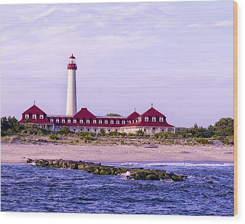 Wood Print featuring the photograph Cape May Light House by Linda Constant