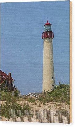 Cape May Lighthouse Vertical Wood Print