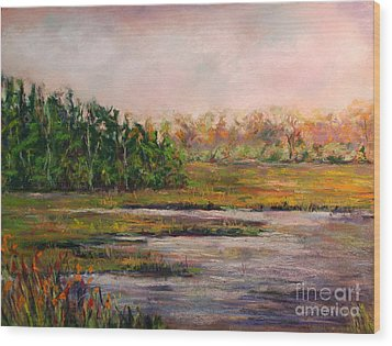 Cape May Marsh Wood Print by Joyce A Guariglia