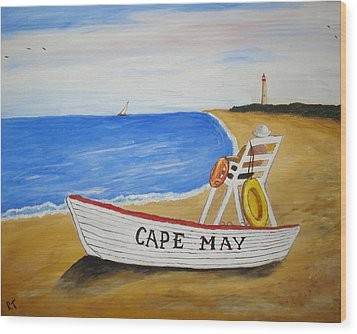 Cape May Wood Print by Rita Tortorelli