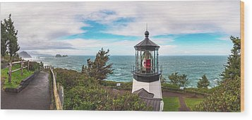 Wood Print featuring the photograph Cape Meares Bright by Darren White
