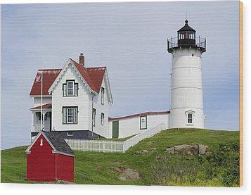 Cape Neddick Light Wood Print by Luke Moore