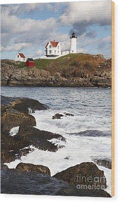 Cape Neddick Lighthouse Wood Print by Bryan Attewell