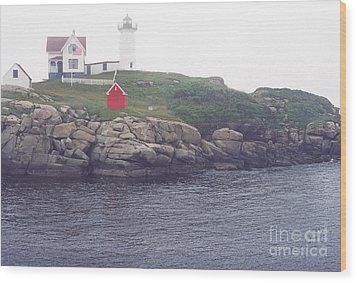 Cape Neddick Lighthouse Wood Print by Thomas R Fletcher